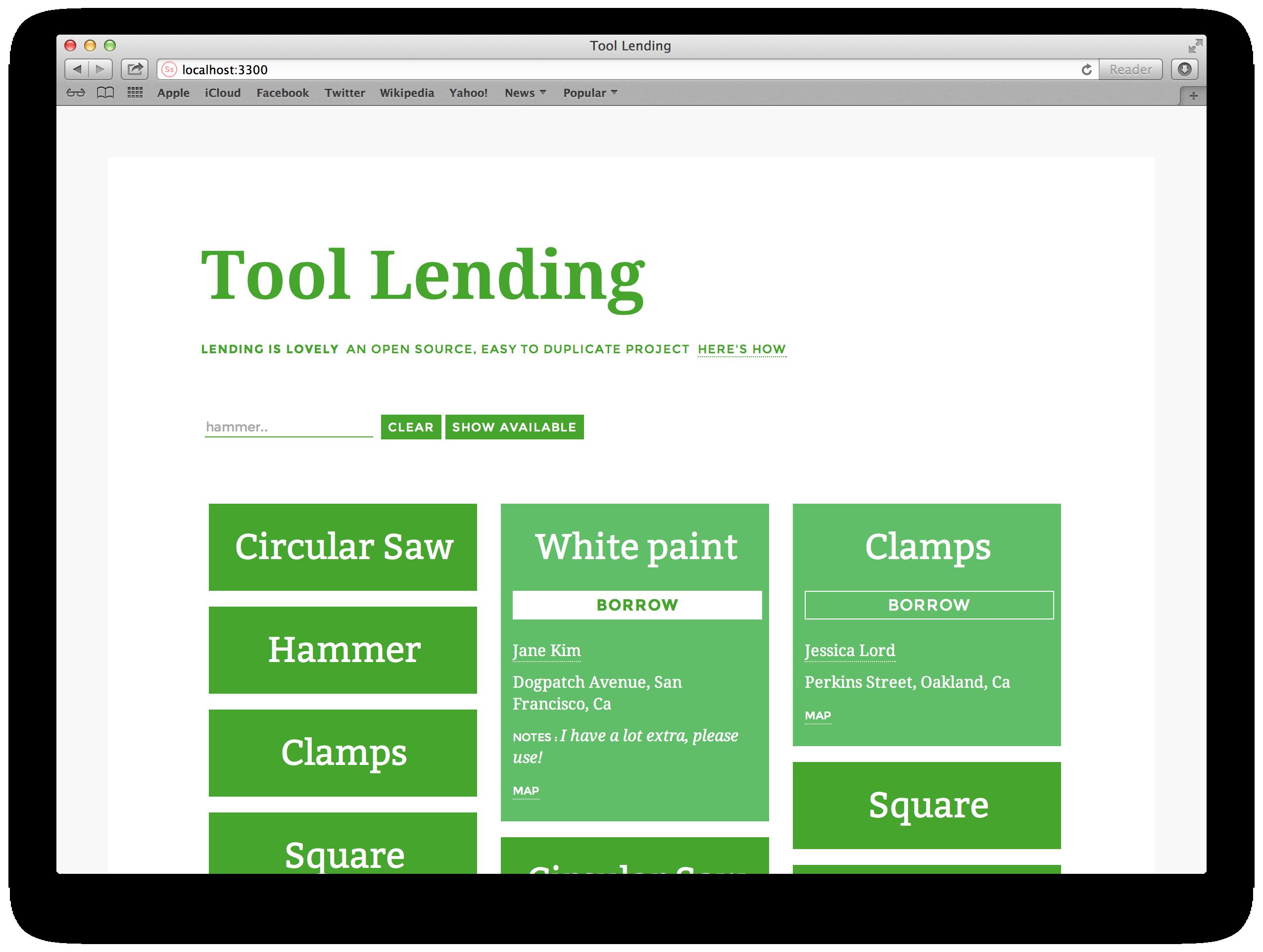 tool lending